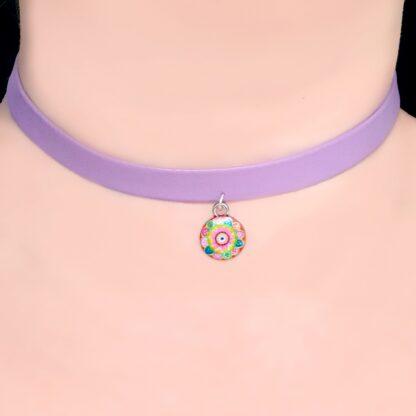 Steampunk BDSM jewelry submissive day collar vegan hippie fractal necklace