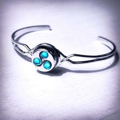 Steampunk BDSM jewelry triskele symbol submissive cuff dominatrix bracelet