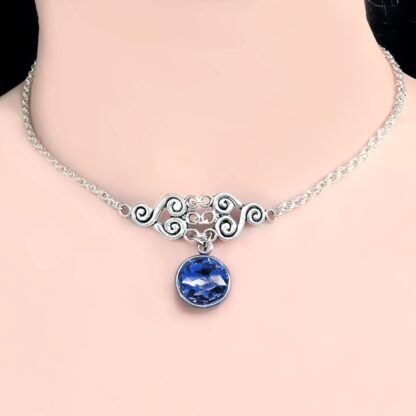 Submissive day collar sub choker Steampunk BDSM symbol triskele chain necklace Marrakesh