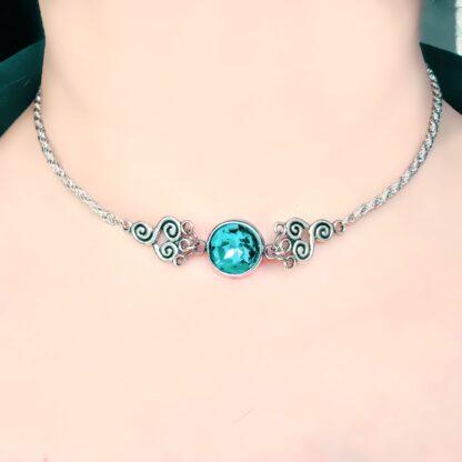 Стимпанк БДСМ украшения символ трискель сабмиссив ошейник чокер Марракеш ожерелье