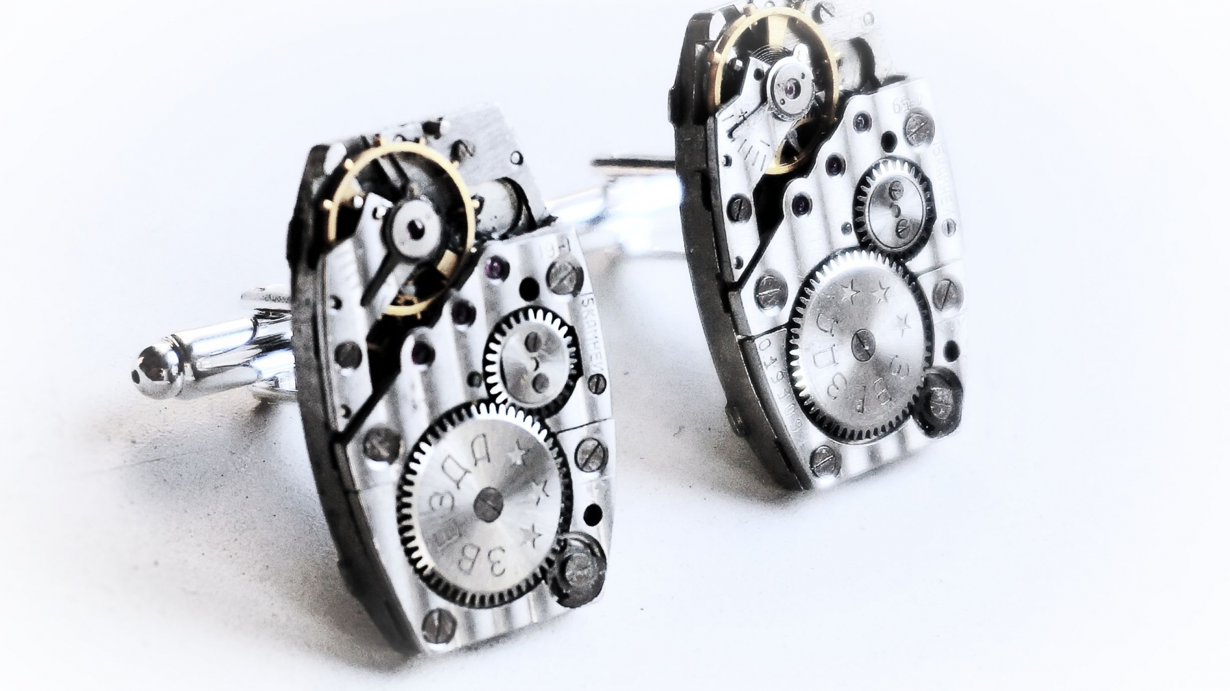 Steampunk bdsm cuff links