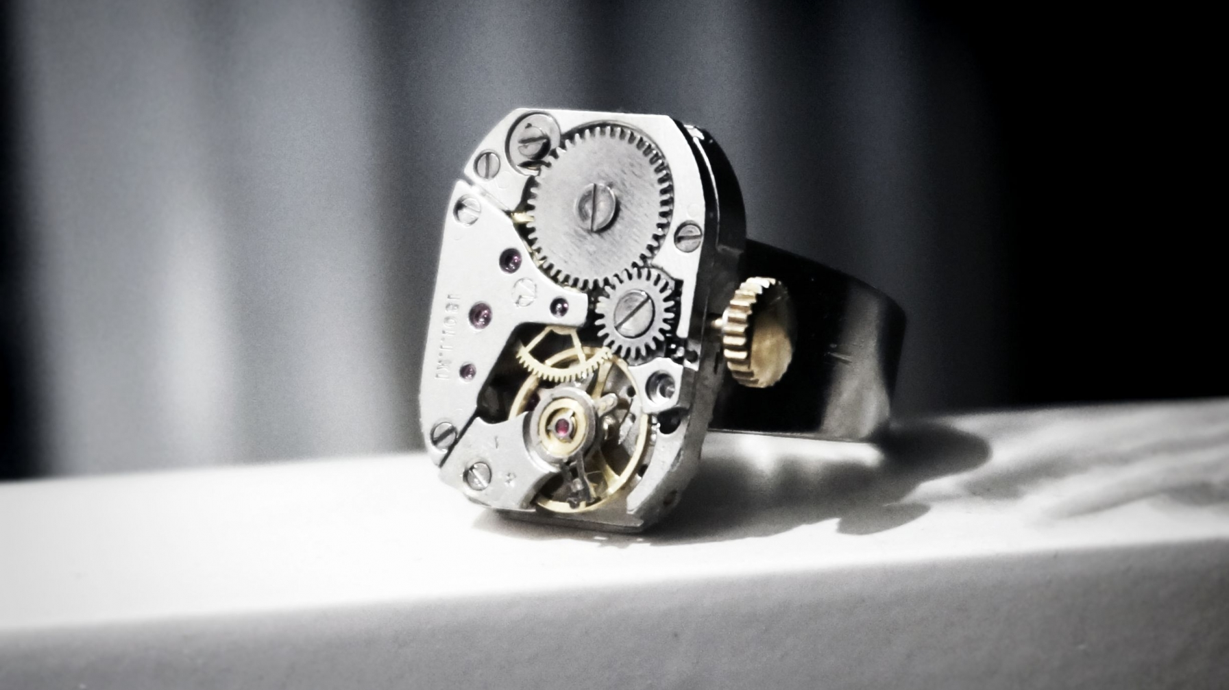 Steampunk bdsm mens ring